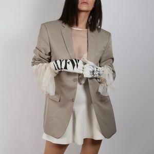 Beige Blazer Jacket Size L